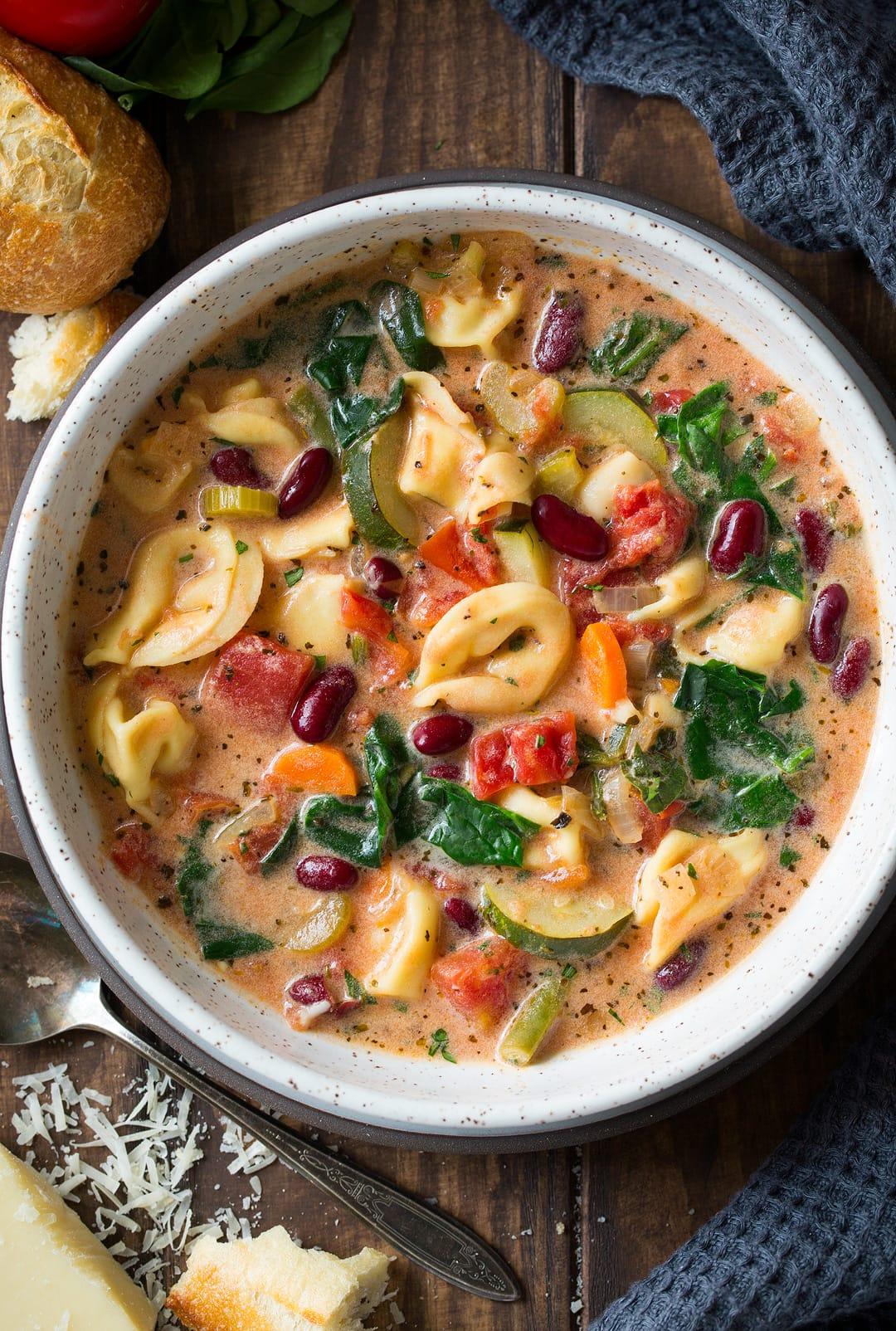 Creamy Tortellini Minestrone Recipe