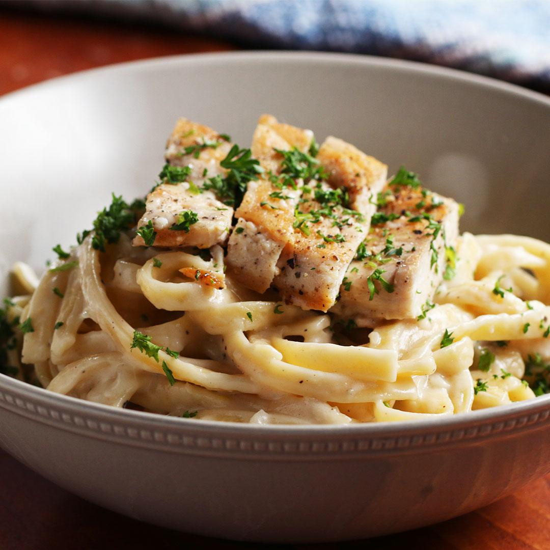 Coconut Chicken Fettuccine Alfredo Recipe