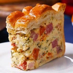 Easter Savory Pie (Pizza Rustica) Recipe