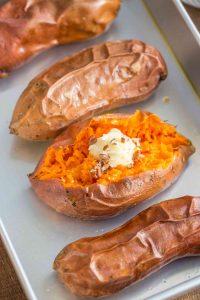 Easy Baked Sweet Potatoes Recipe