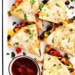 easy veggie quesadillas recipe