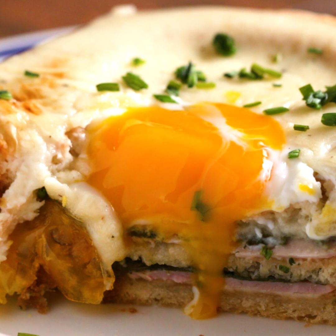 Egg-In-Hole Layered Breakfast Bake Recipe