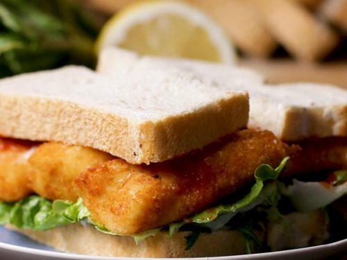 fancy af fish finger sandwich recipe