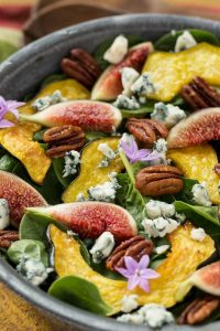 Fig Salad with Spinach Recipe