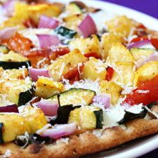 Veggie-Lovers Flatbread Pizza Recipe