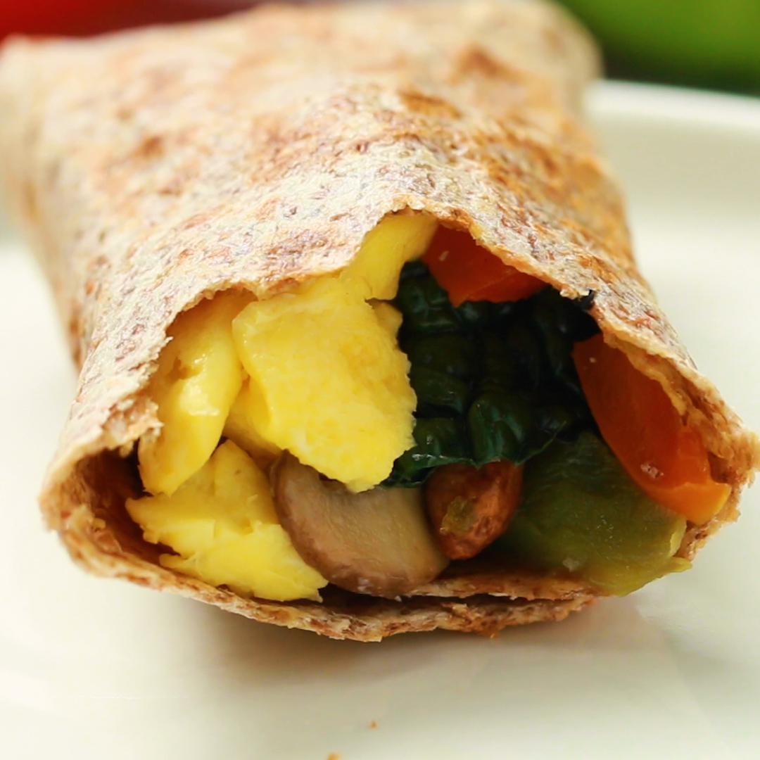 Grab and Go Veggie Breakfast Burritos Recipe