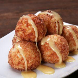 Fried Sticky Rice Mango Balls Recipe