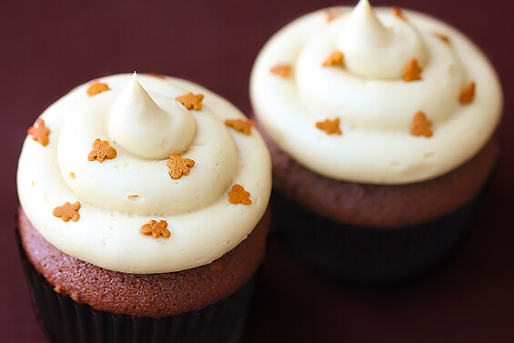Gingerbread Cupcakes with Frosting Recipe