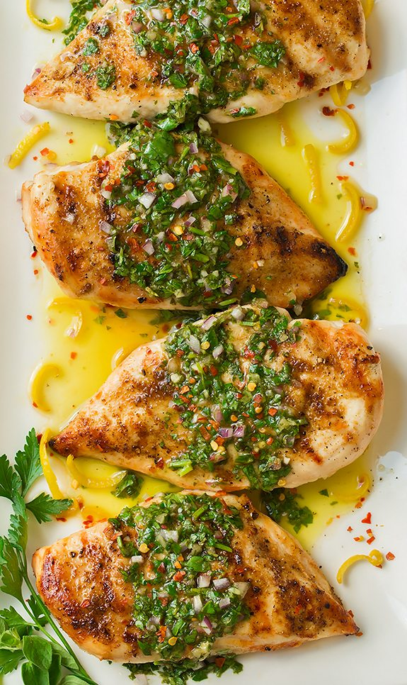 Grilled Cumin Chicken with Chimichurri Sauce Recipe