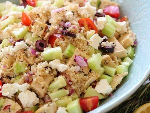 grilled mediterranean chicken and quinoa salad recipe