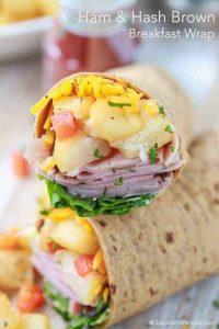 Ham and Hash Brown Breakfast Wraps Recipe