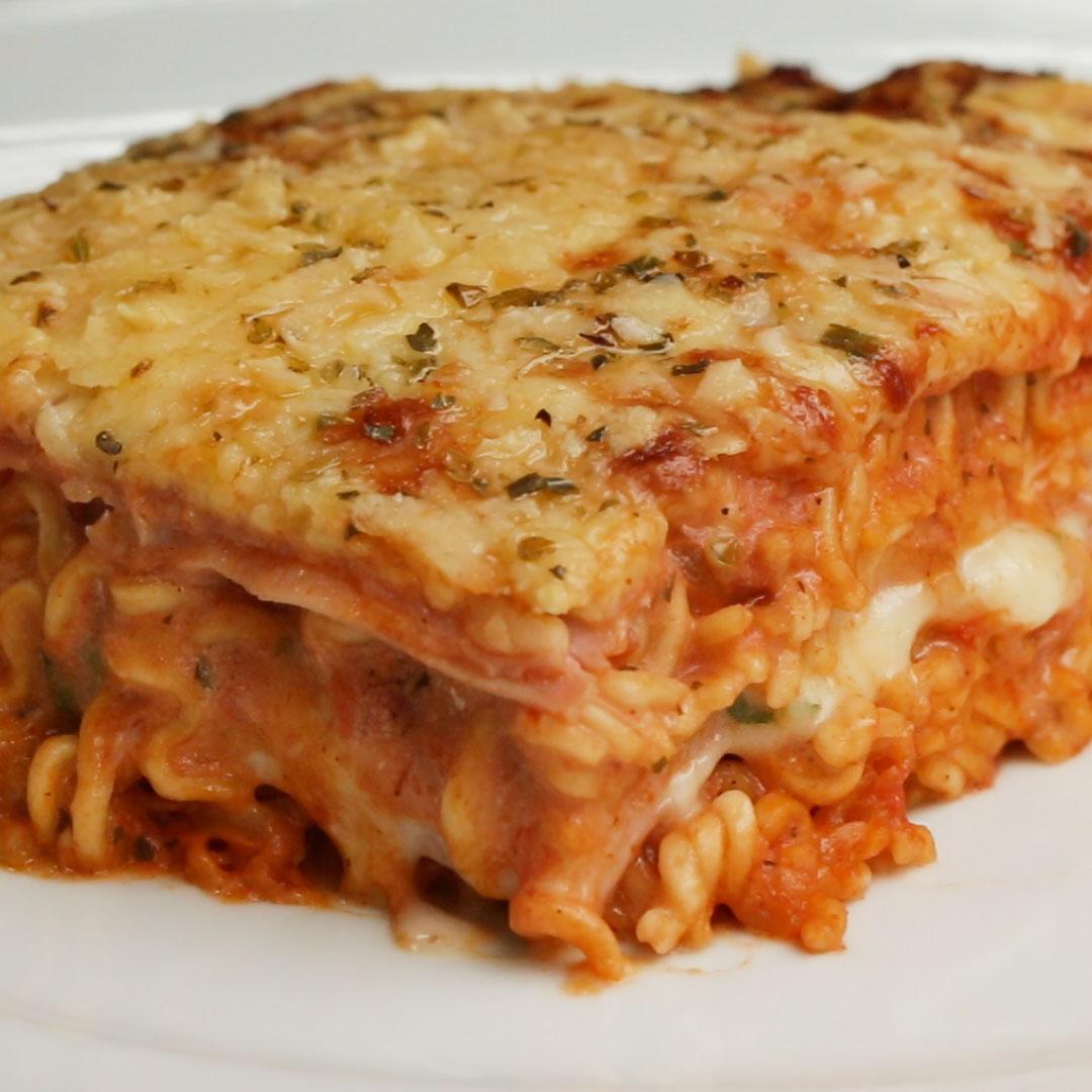 Instant Noodle Lasagna Recipe