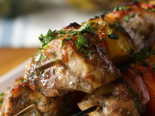 jerk chicken and pineapple skewers recipe