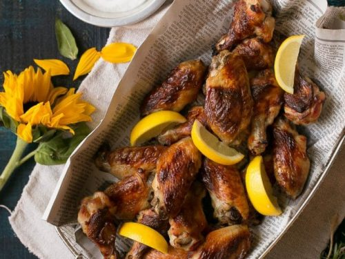 lemon chicken wings recipe