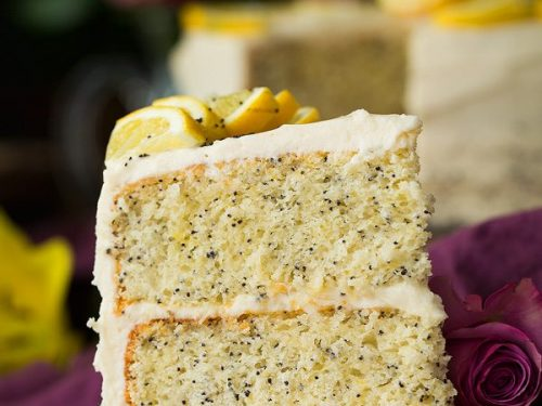 lemon poppy seed cake with cream cheese frosting recipe