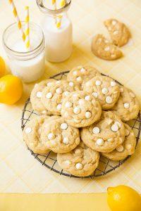 Lemon White Chocolate Chip Cookies Recipe