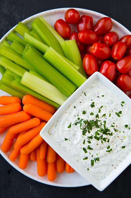 Lighter Greek Yogurt Ranch Dip Recipe