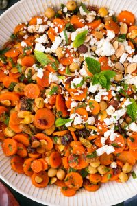 Carrot Salad with Chickpeas and Almonds Recipe