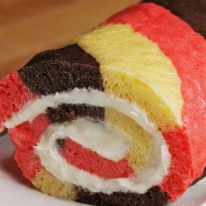 Neapolitan Swiss Roll Recipe