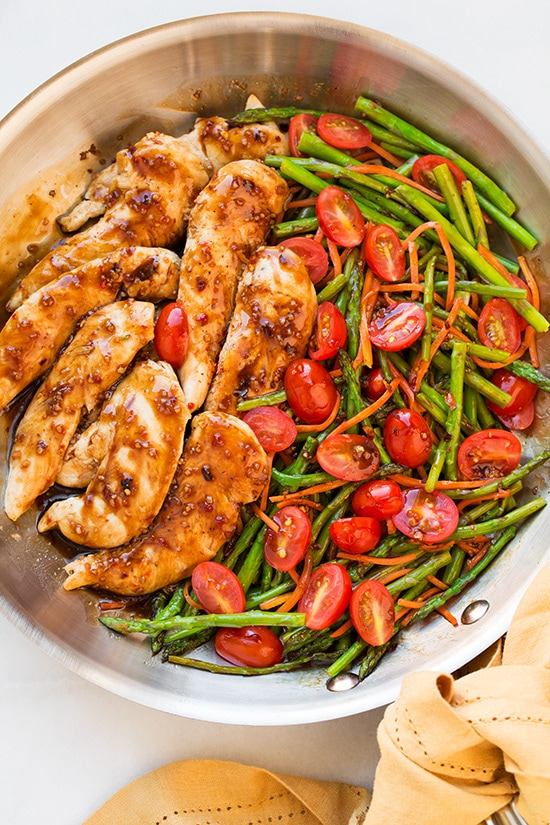 One Pan Balsamic Chicken and Veggies Recipe