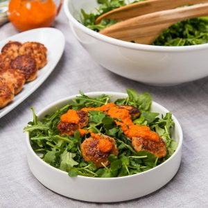 Pan-Fried Shrimp Cakes Salad Recipe
