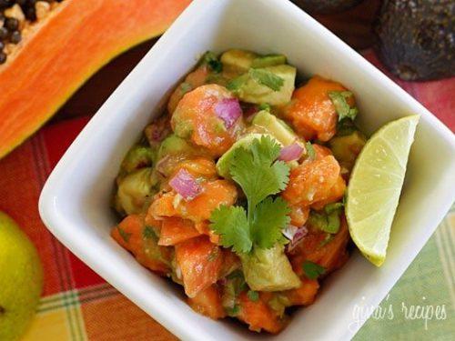 papaya avocado salad recipe