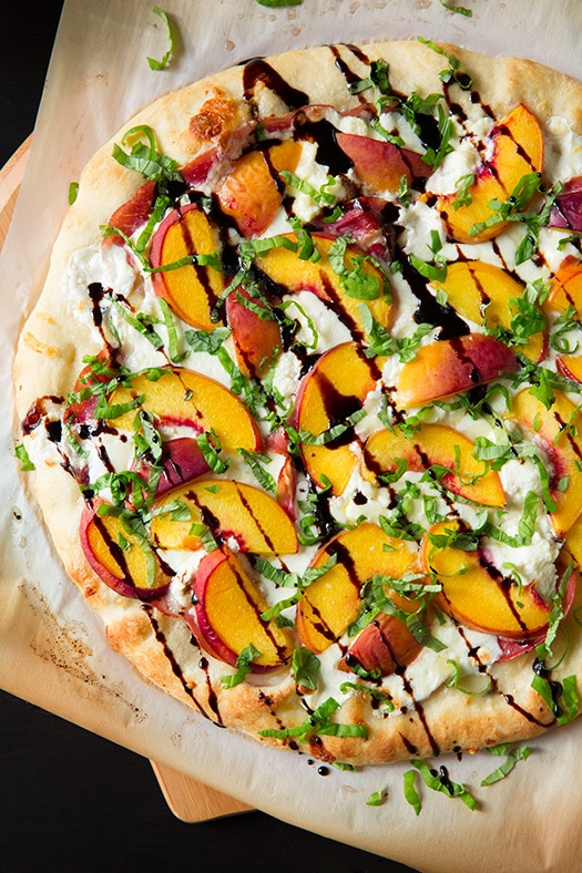 Peach & Prosciutto Pizza with Honey Balsamic Reduction Recipe