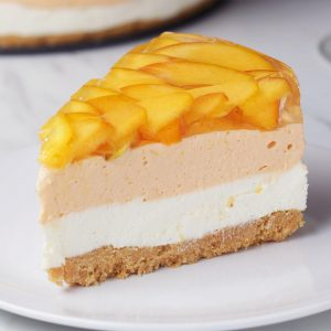 Peaches 'N' Cream Cheesecake Recipe