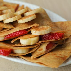 Peanut Butter and Berries Quesadilla Recipe