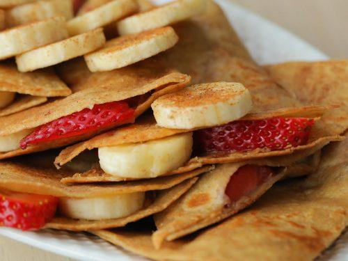 peanut butter, strawberry, and banana quesadilla recipe