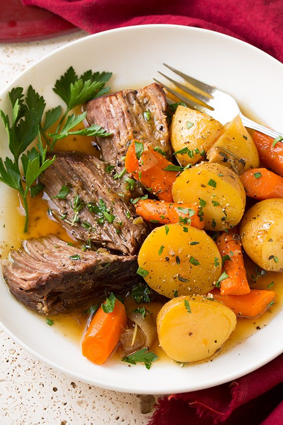 Pot Roast with Potatoes and Carrots Recipe