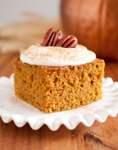 Pumpkin Bars with Fluffy Cream Cheese Frosting Recipe