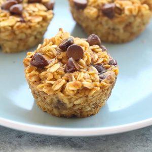 Pumpkin Chocolate Chip Baked Oatmeal Cups Recipe