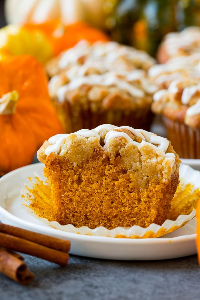 Pumpkin Muffins with Brown Sugar Streusel Recipe