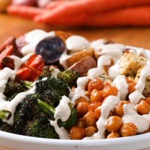 Colorful Roasted Veggie Bowl Recipe