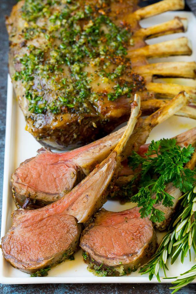 Rack of Lamb with Garlic and Rosemary Recipe