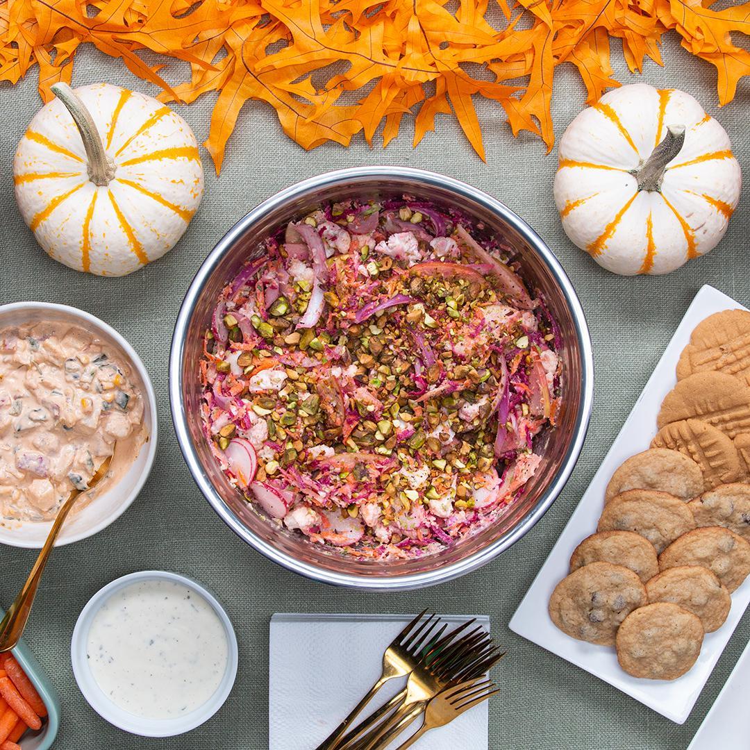 Fall Slaw With Tahini Poppy Seed Dressing Recipe