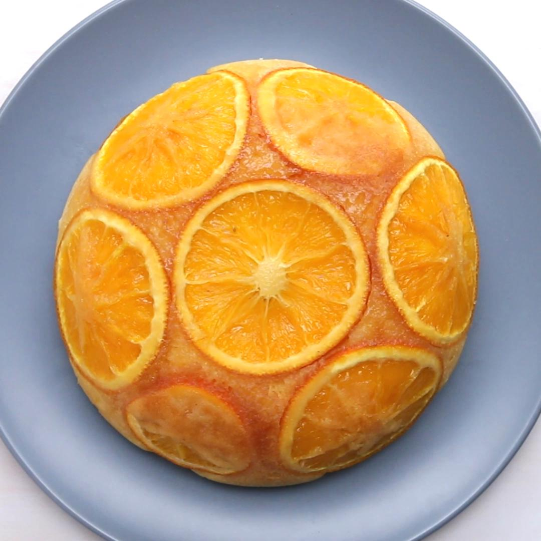 Rice Cooker Orange Upside-Down Cake Recipe