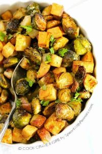 Roasted Potatoes and Brussels Sprouts Recipe