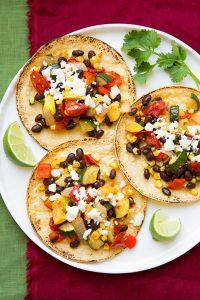 Roasted Veggie and Black Bean Tacos Recipe