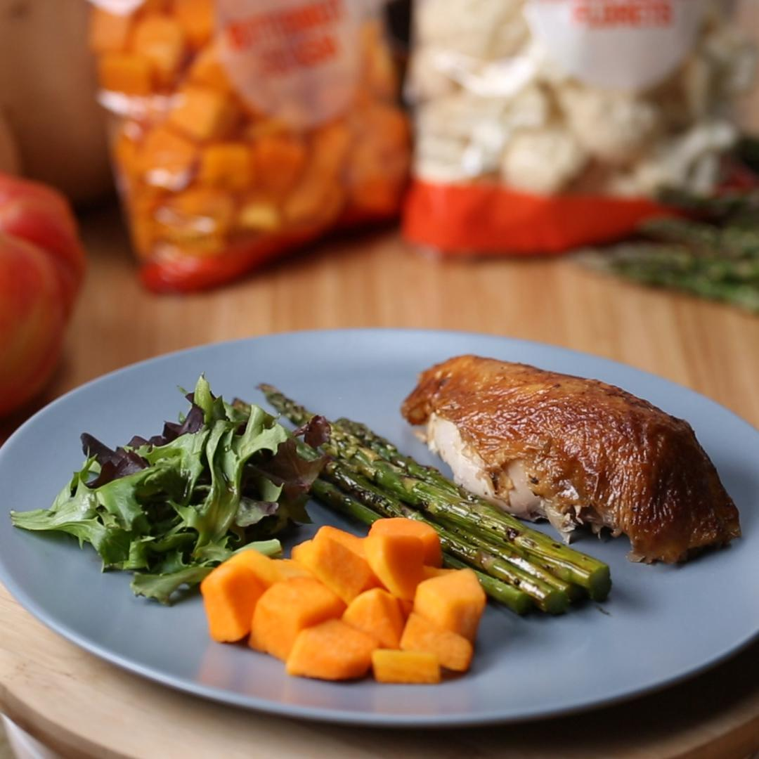 Rotisserie Chicken with Squash Dinner Recipe