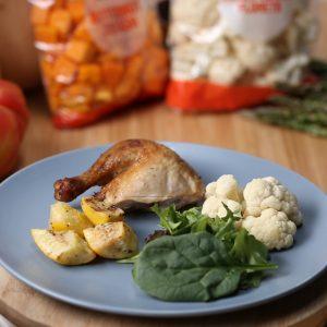 Rotisserie Chicken with Salad Greens Recipe
