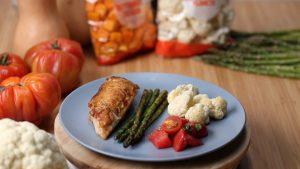 Rotisserie Chicken with Tomato Salad Recipe