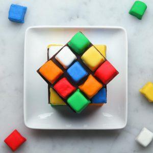 Rubik's Cube Cake Recipe