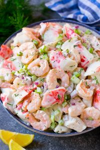 Seafood With Vegetables Salad Recipe