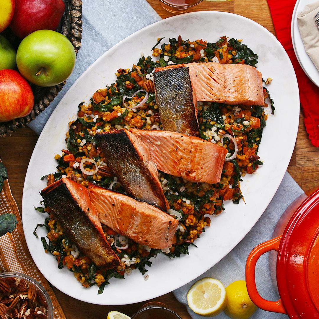 Seared Salmon with Smoky Squash Salad Recipe