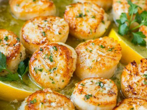 seared scallops with garlic butter recipe