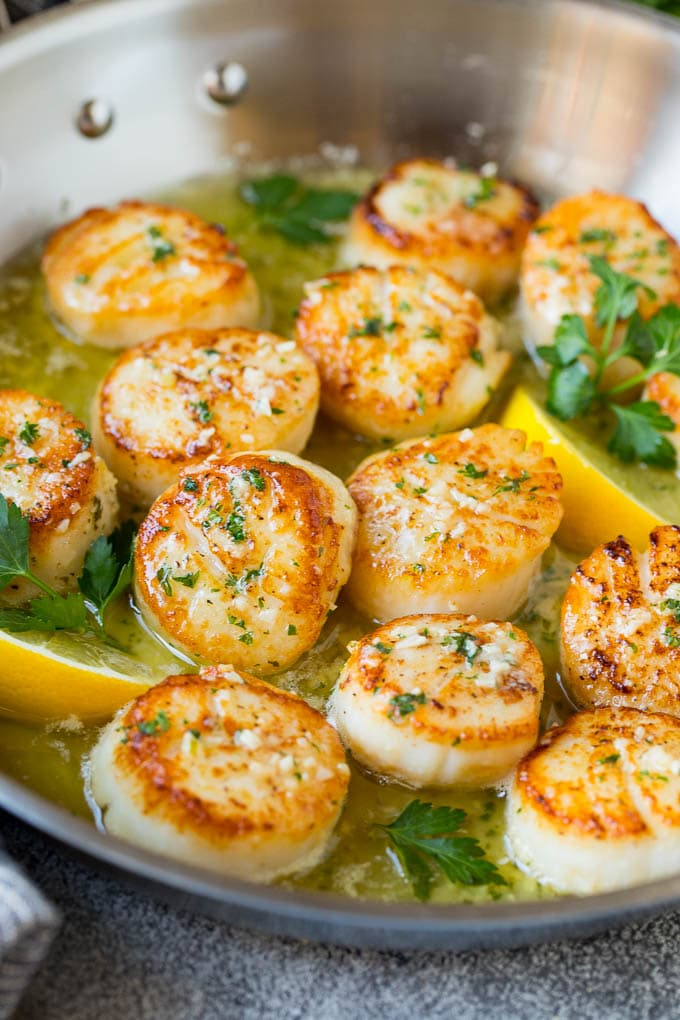 Seared Scallops with Garlic Butter Recipe