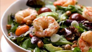 Seared Shrimp Salad with Avocado Recipe