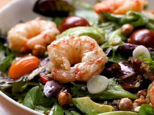 seared shrimp and avocado salad recipe